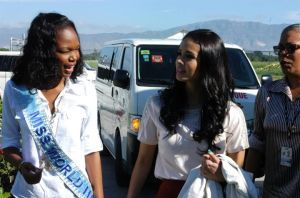 miss world megan young in haiti